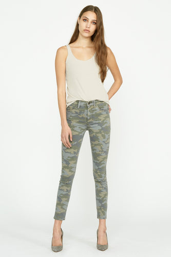 Barbara High Rise Super Skinny Jean in Camo