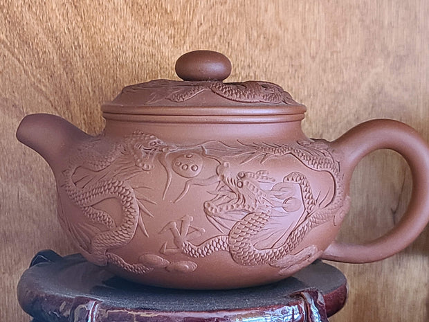 """Dragon Family"" Yixing Teapot"