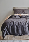 INBED Linen Duvet Cover in Charcoal