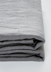 Linen Fitted Sheet in Cool Grey