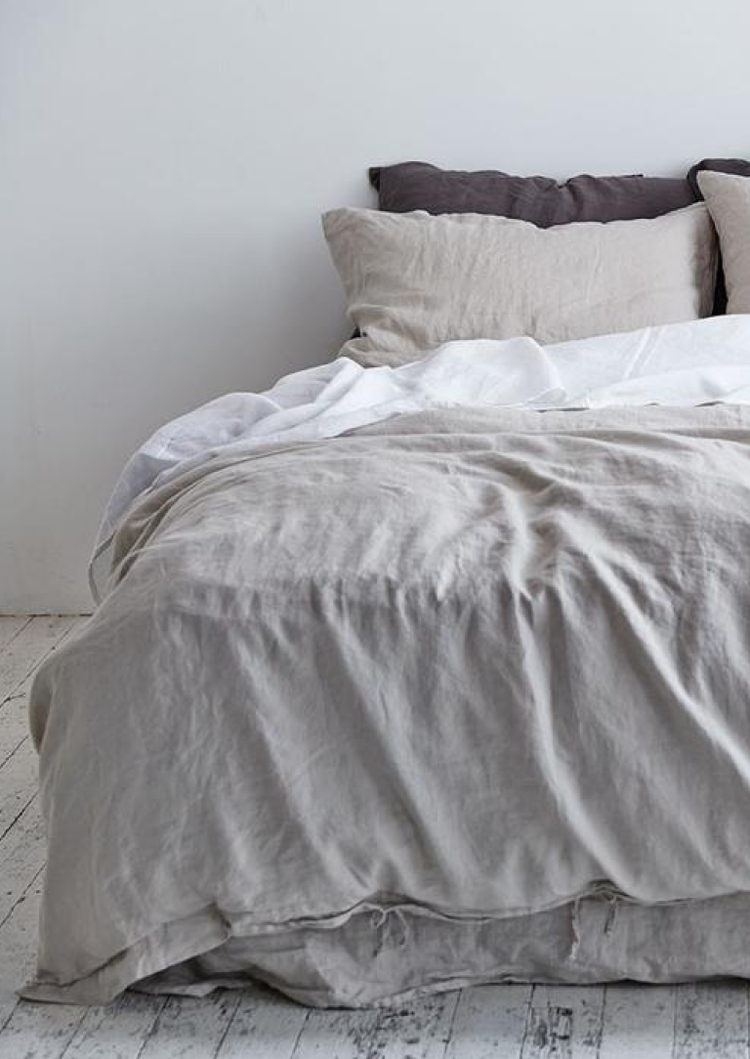 Linen Duvet Cover in Dove Grey