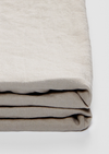 Linen Fitted Sheet in Dove Grey