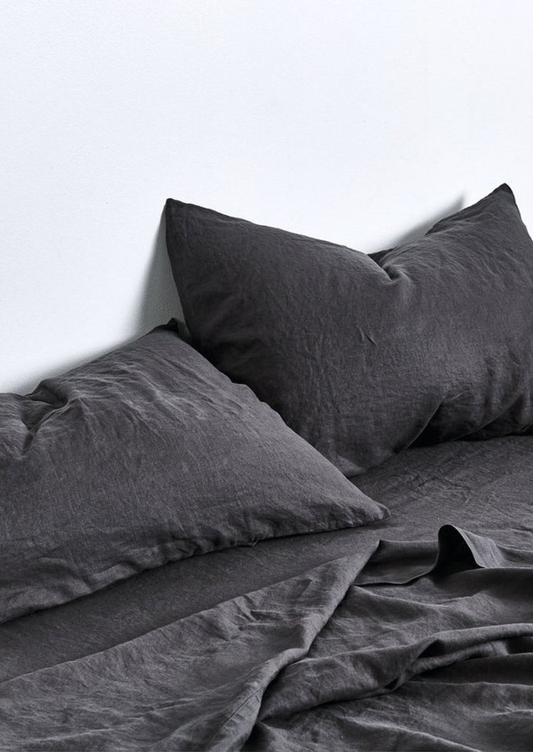 Linen Pillowslip Set in Kohl