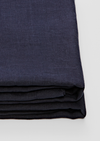 Linen Fitted Sheet in Navy
