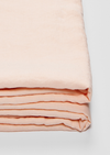 Linen Flat Sheet in Peach