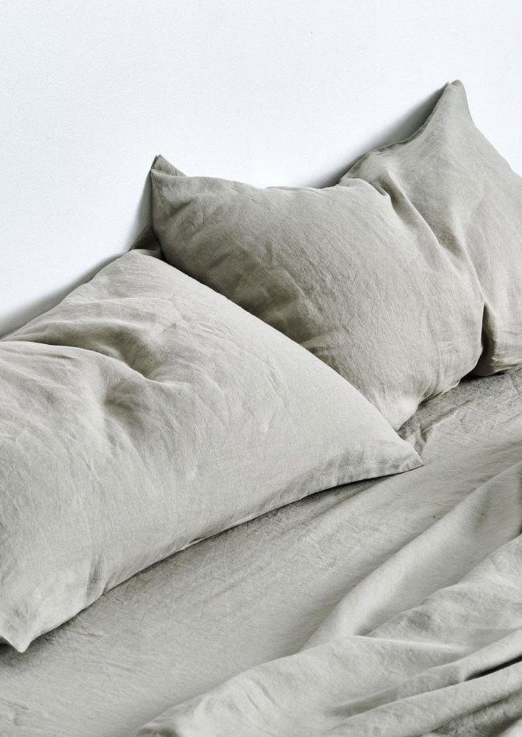 Linen Pillowslip Set in Stone