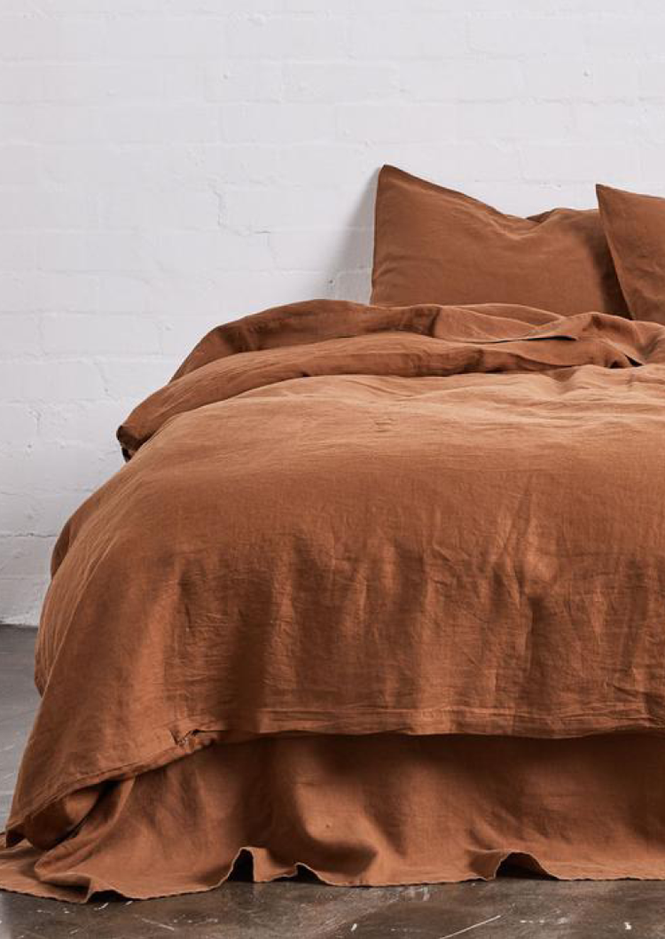 INBED Linen Duvet Cover in Tobacco