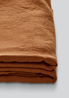 Linen Flat Sheet in Tobacco