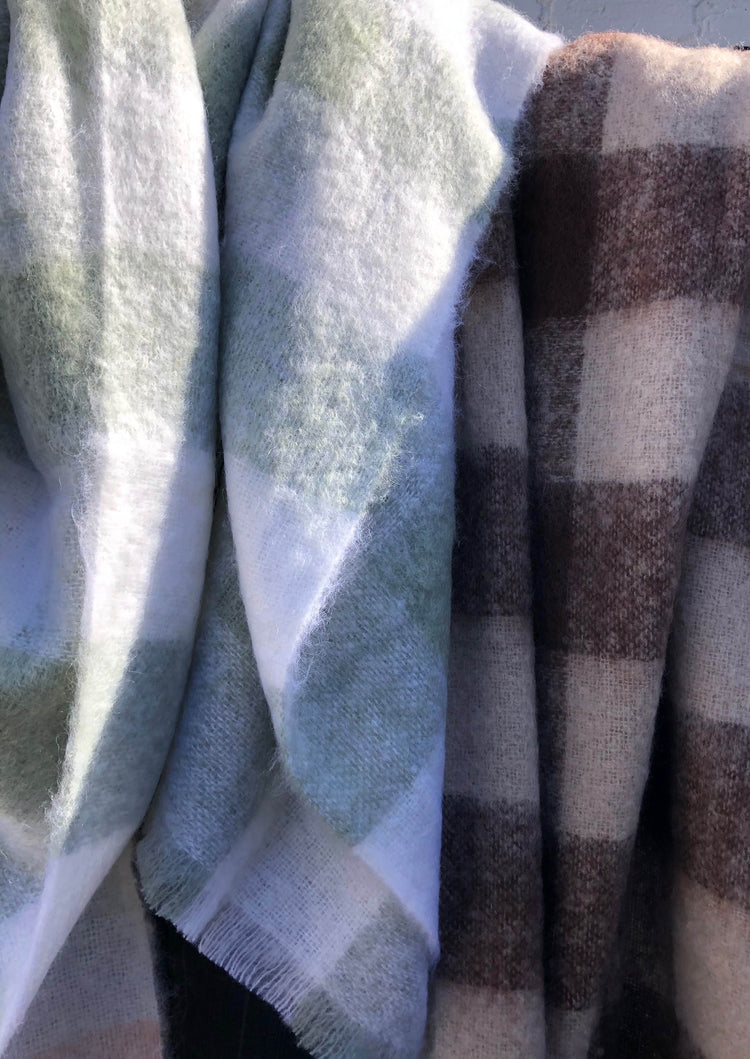 St Albans Mohair Eden Check Throw