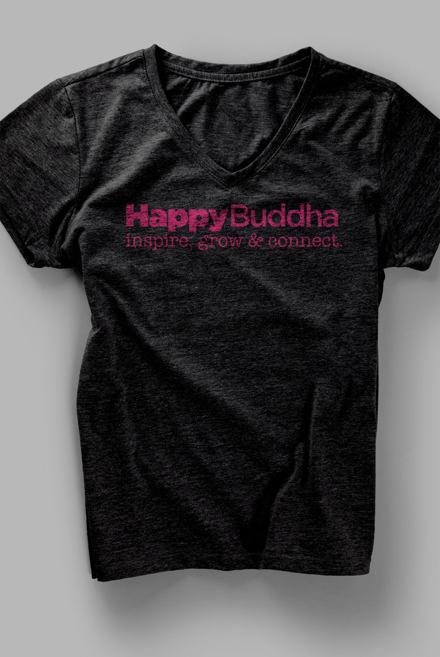 Happy Buddha Deep V Tee - Being Happy Buddha