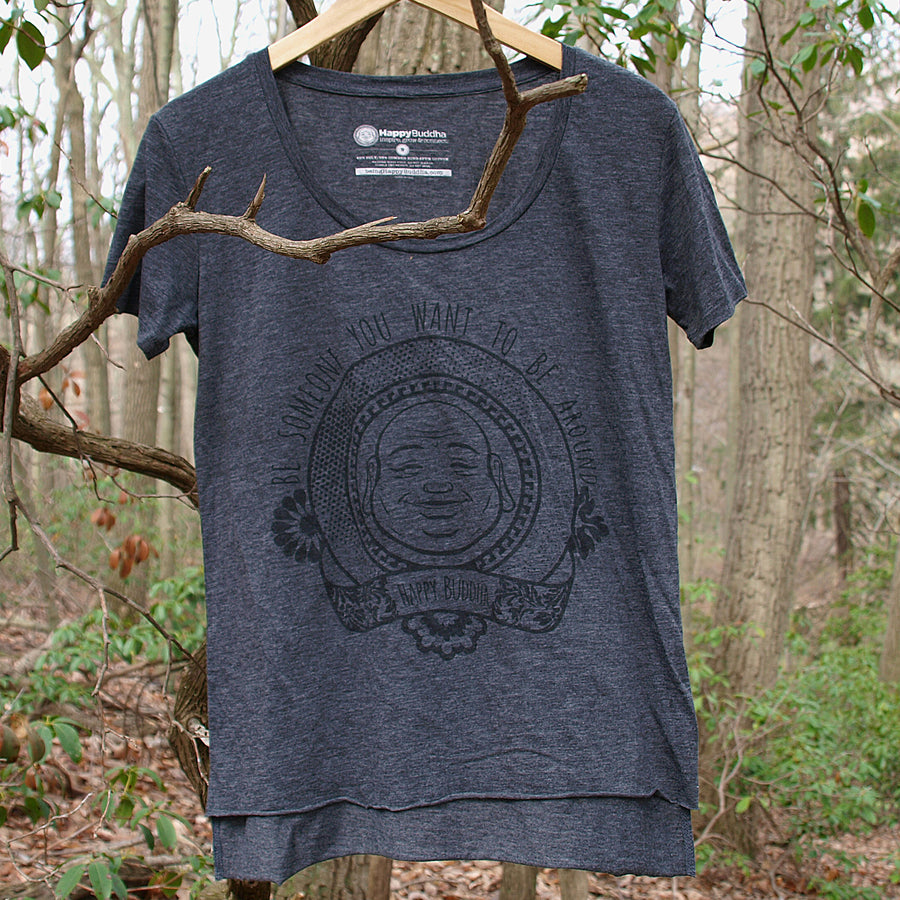 BEING HAPPY BUDDHA SCOOP TEE
