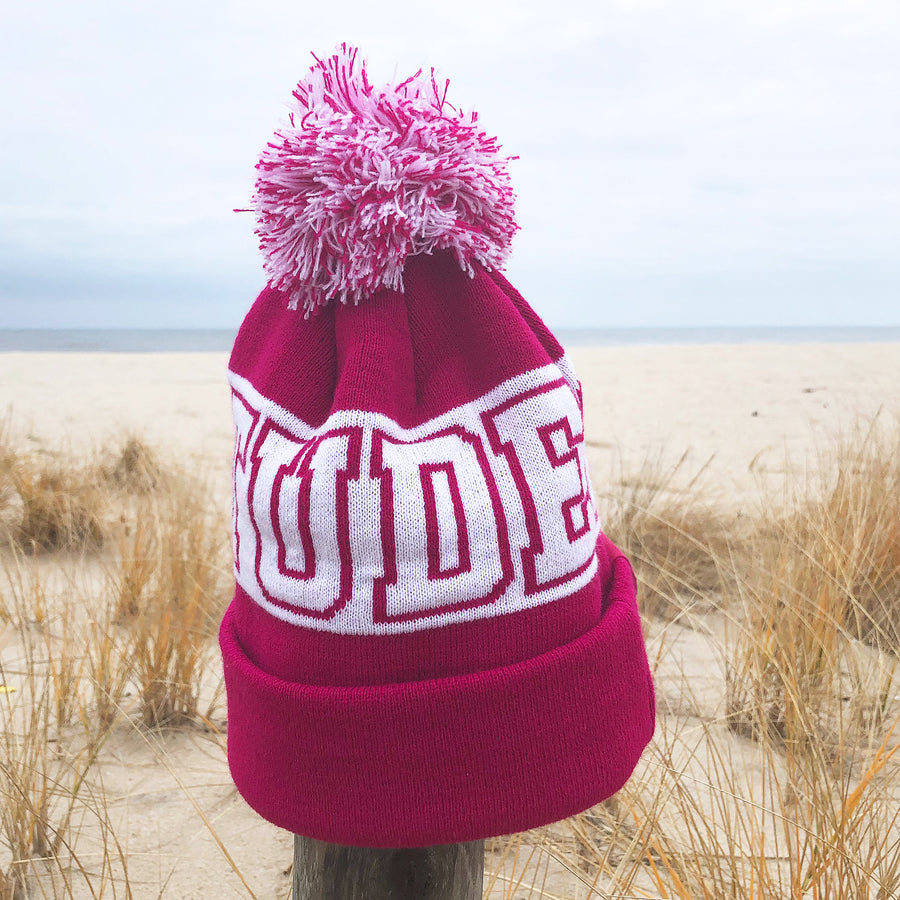 Gratitude Pompom Winter Beanie - Being Happy Buddha