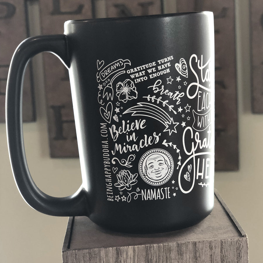 Happy Buddha Doodle Mug - Being Happy Buddha