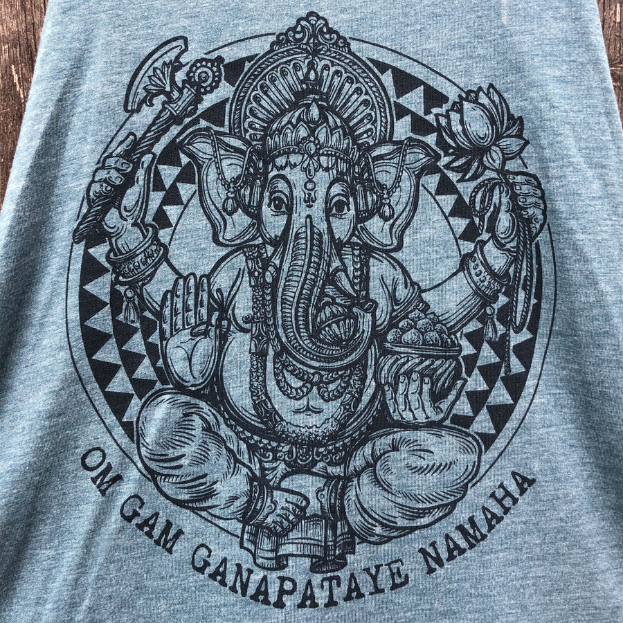 Ganesh Flowy Tank - Being Happy Buddha