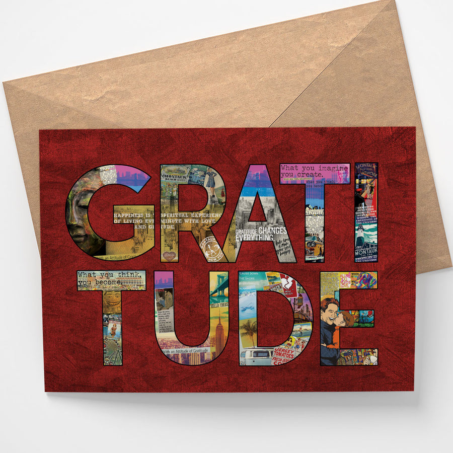 Gratitude Notecard - Being Happy Buddha