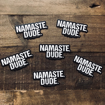 Namaste Dude Stickers - Being Happy Buddha