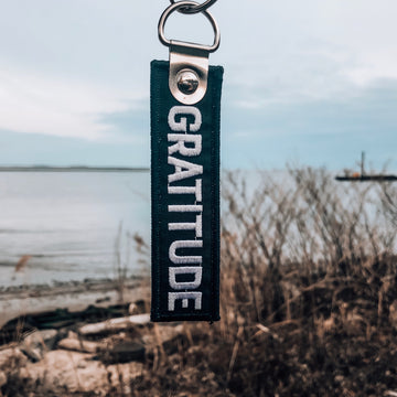 Gratitude Keychain - Being Happy Buddha