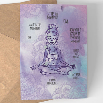 Meditation Notecard - Being Happy Buddha