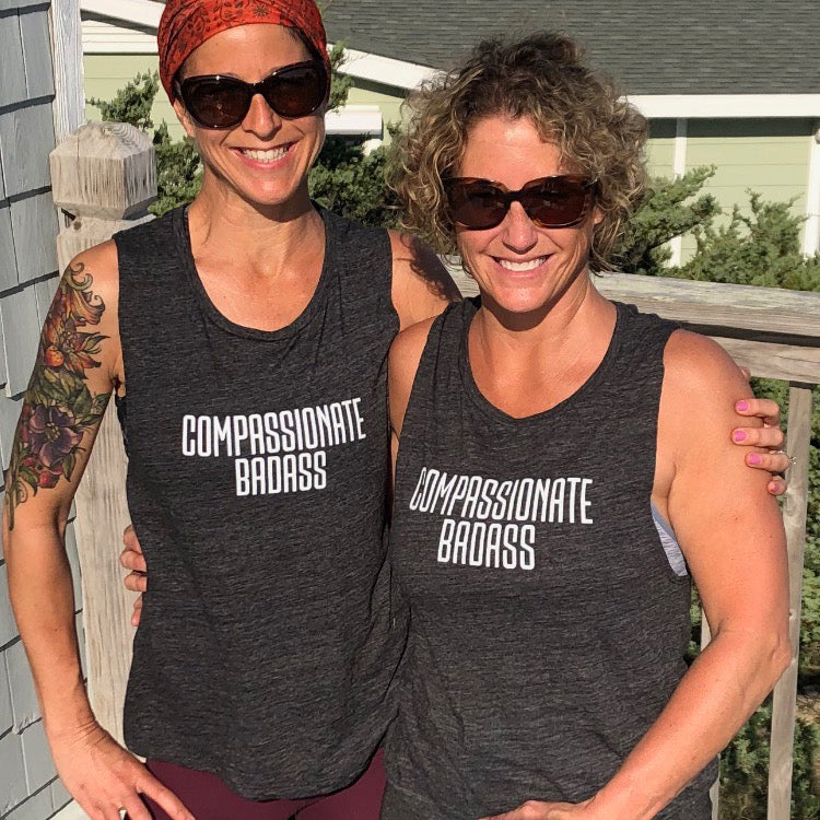 Compassionate Badass Muscle Tank - Being Happy Buddha