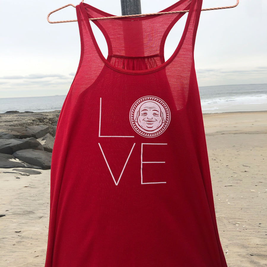 Love Flowy Tank - Being Happy Buddha