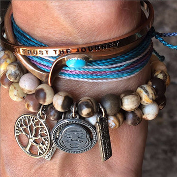 Happy Buddha Gratitude Bracelets - Being Happy Buddha