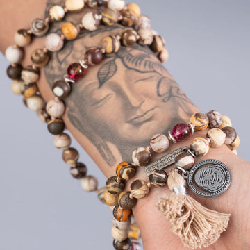 HAPPY BUDDHA 108 BEADED MALA