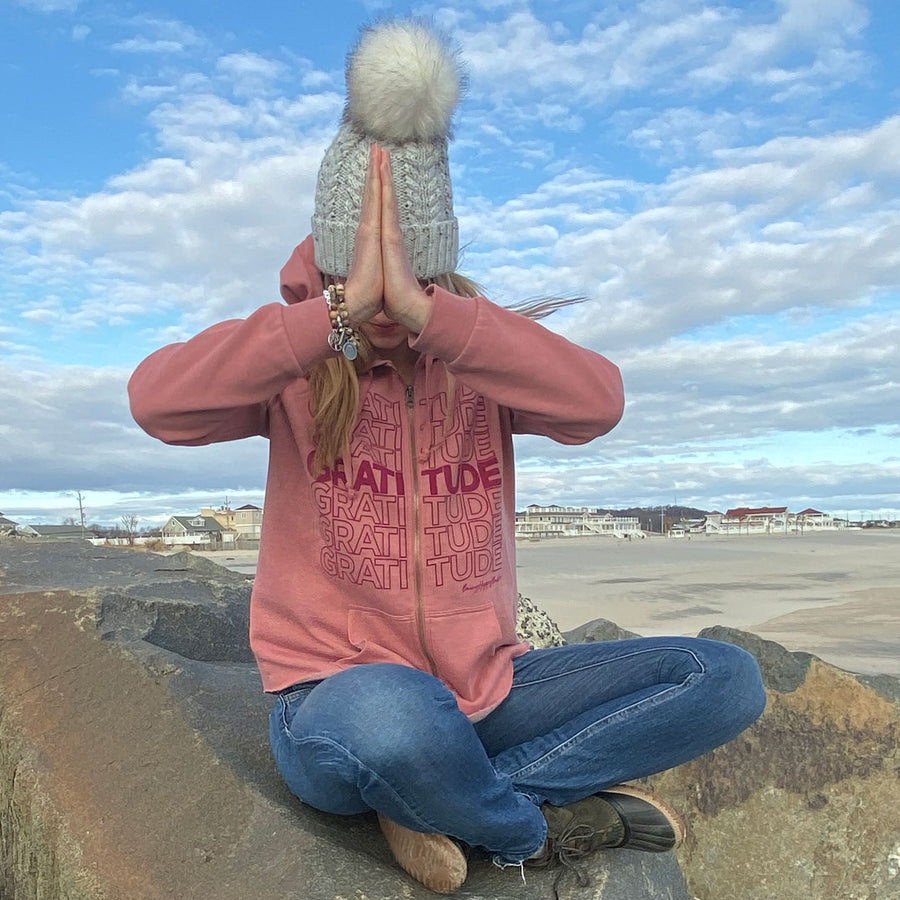 Gratitude Hoodie - Being Happy Buddha