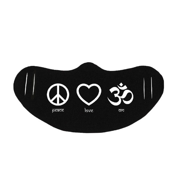 PEACE, LOVE, OM MASK - Being Happy Buddha
