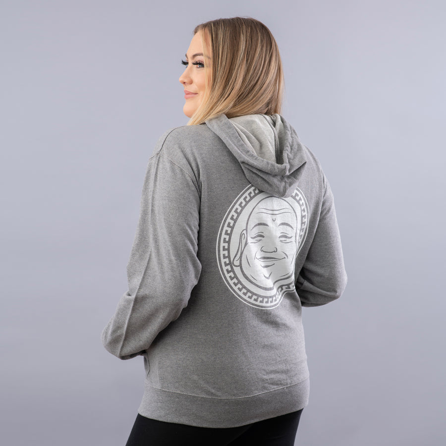 Gratitude Unisex Hoodie - Being Happy Buddha