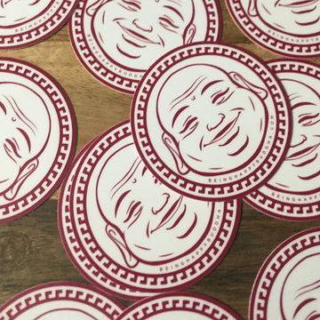 Happy Buddha Sticker - Being Happy Buddha