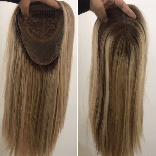 Hair Topper(Kosher) (All sizes available )Hand made double drawn full hair