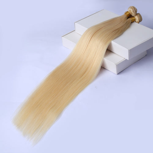 Callender Girls straight hair bundles with closure 613 Brazilian Straight Hair Bundles With Closure  bundles with closure 613 Blonde