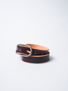 "CAUSE AND EFFECT 1"" BROWN RAW EDGE BELT"