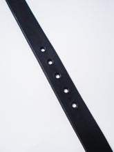"CAUSE AND EFFECT FLAT BLACK 1 1/4"" LEATHER BELT"