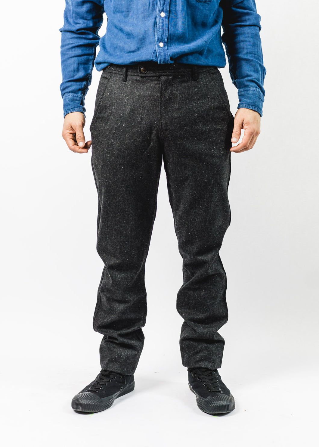 CORRIDOR CHARCOAL TWEED TROUSERS