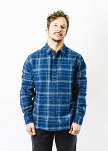 CORRIDOR INDIGO RED PLAID SHIRT