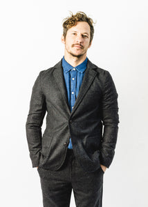 CORRIDOR CHARCOAL TWEED BLAZER