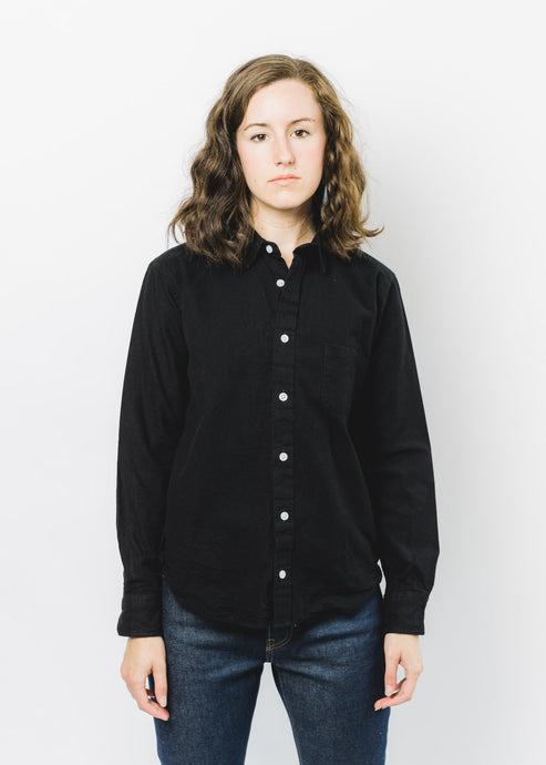 GITMAN VINTAGE SISTERS BLACK FLANNEL SHIRT