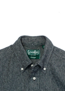 GITMAN VINTAGE GREY TWEED SHIRT