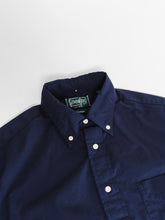 GITMAN VINTAGE NAVY RIPSTOP SHIRT COLLAR DETAIL