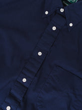 GITMAN VINTAGE NAVY RIPSTOP SHIRT BUTTON DETAIL