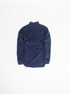 GITMAN VINTAGE NAVY RIPSTOP SHIRT BACK