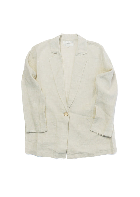 IT IS WELL LINEN BLAZER