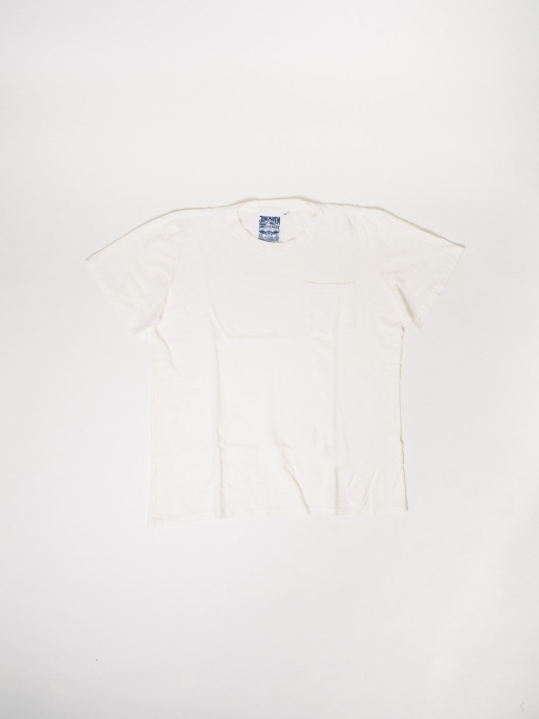 JUNGMAVEN WASHED WHITE JUNG POCKET TEE