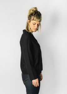 LACAUSA BLACK GEMMA BLOUSE