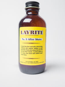 LAYRITE NO. 9 BAY RUM AFTERSHAVE