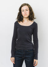 MOLLUSK WOMENS NAVY LONG SLEEVE RIB TEE
