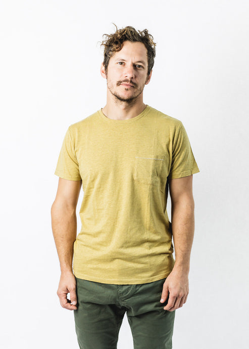 MOLLUSK MUSTARD HEMP POCKET TEE