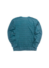 MOLLUSK BLUE YARN STRIPE CREW