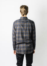 NEW ENGLAND SHIRT BROWN PLAID FLANNEL